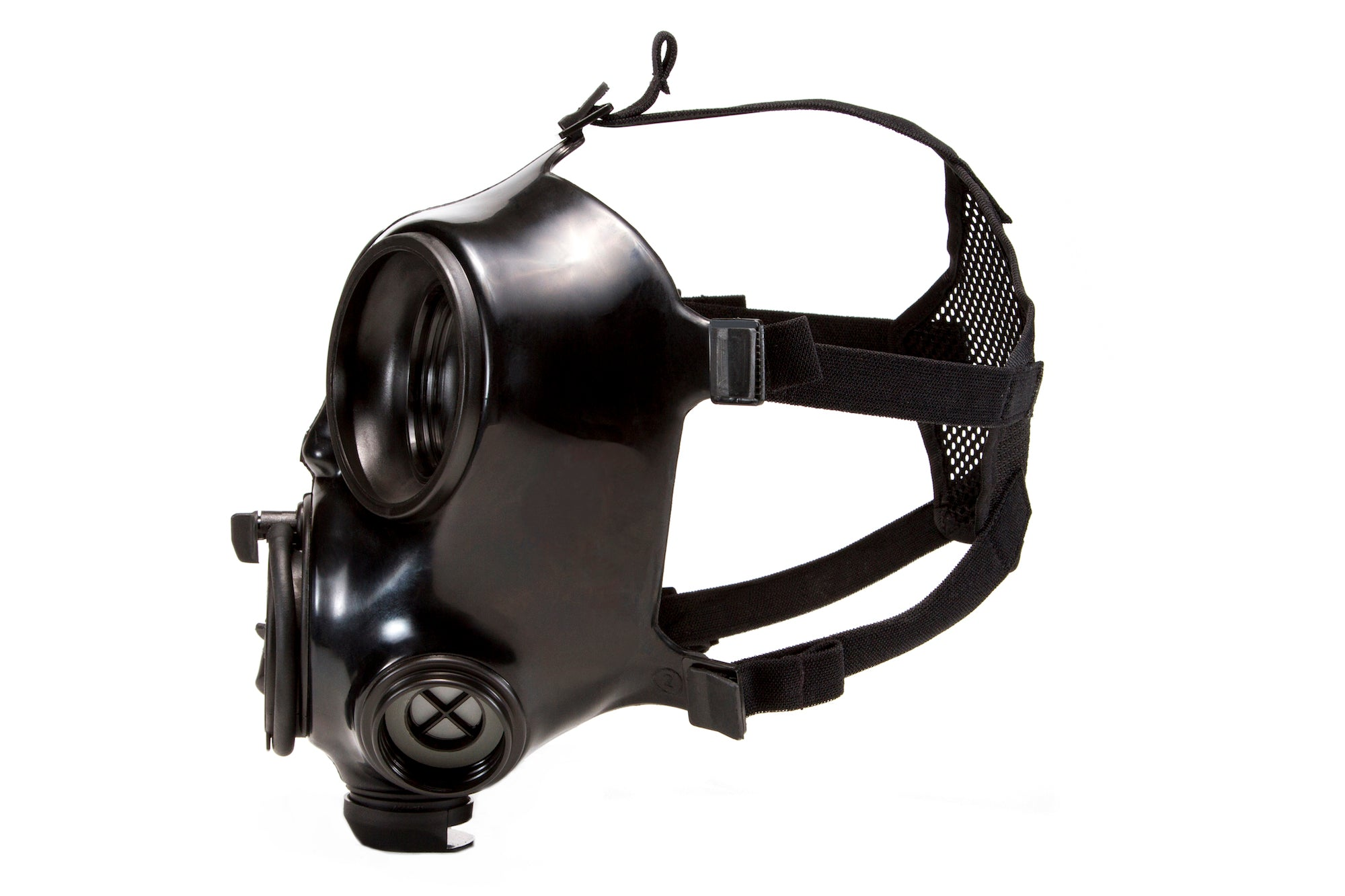 Side view of the CM-7M Military Gas Mask