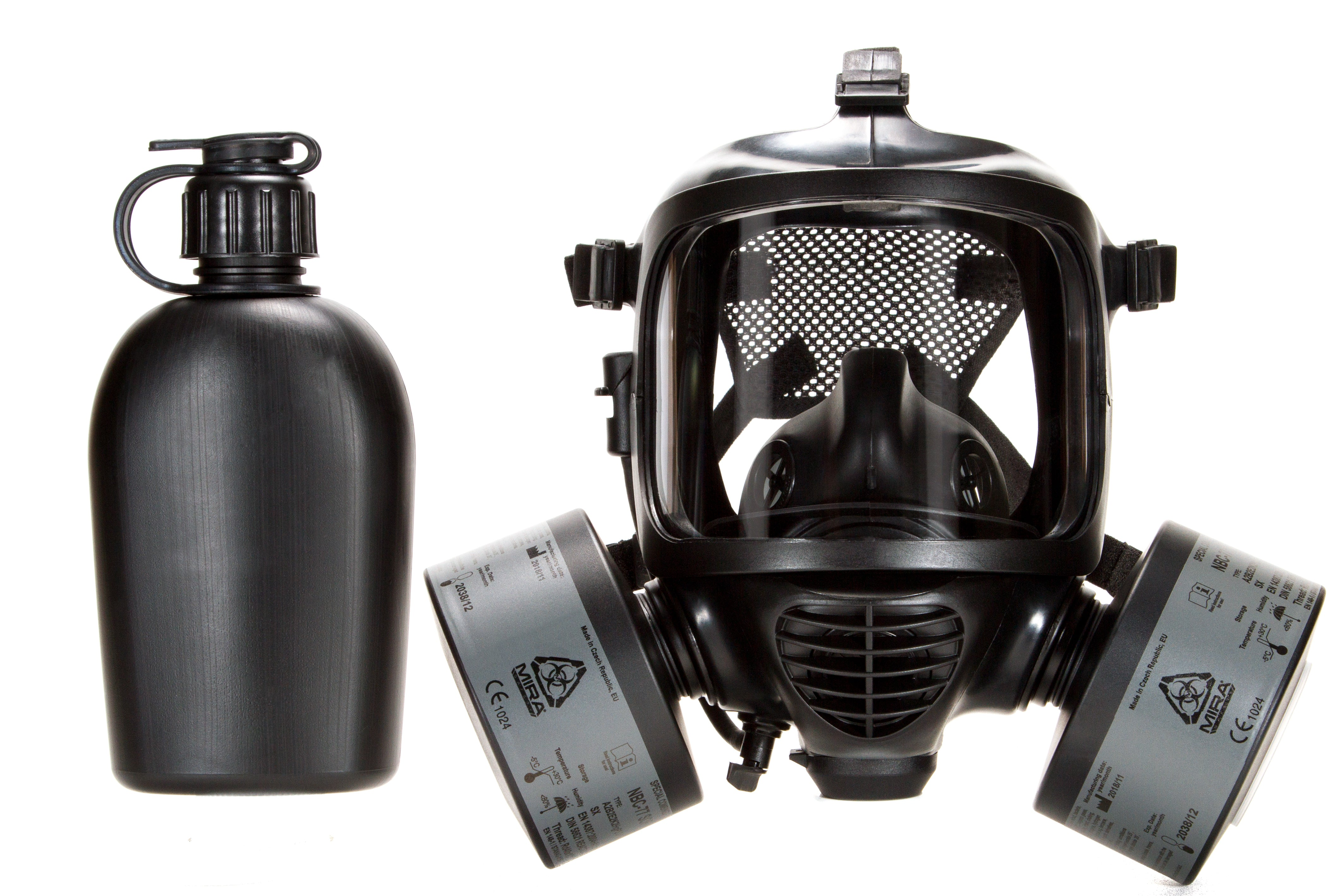CM-6M tactical gas mask with two CBRN filters