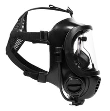 Side view of CM-6M tactical gas mask with the 3M spectacle insert