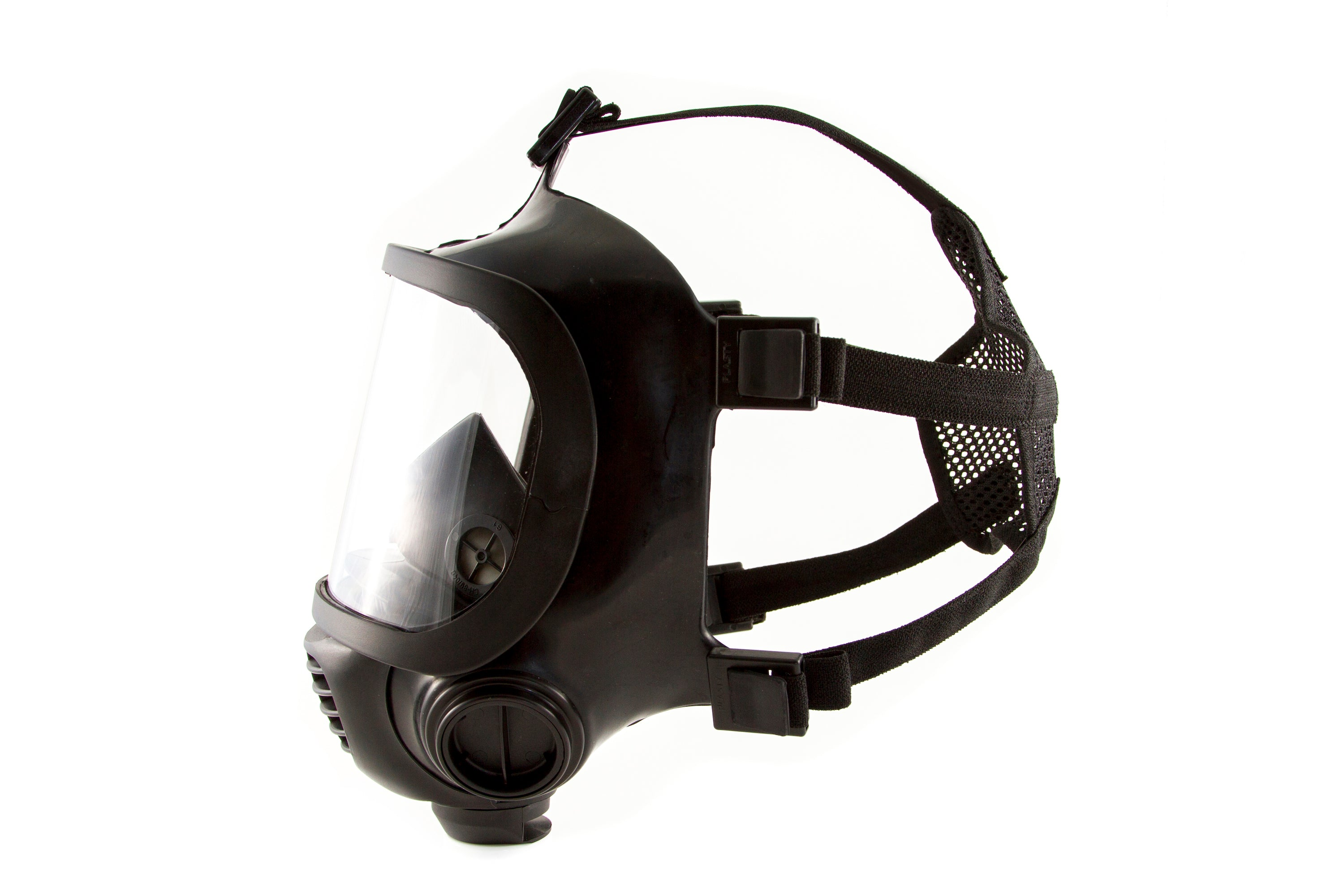 Side view of the CM-6M tactical gas mask