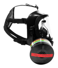 Side view of the CM-6M tactical gas mask with DOTpro 320 40mm gas mask filter