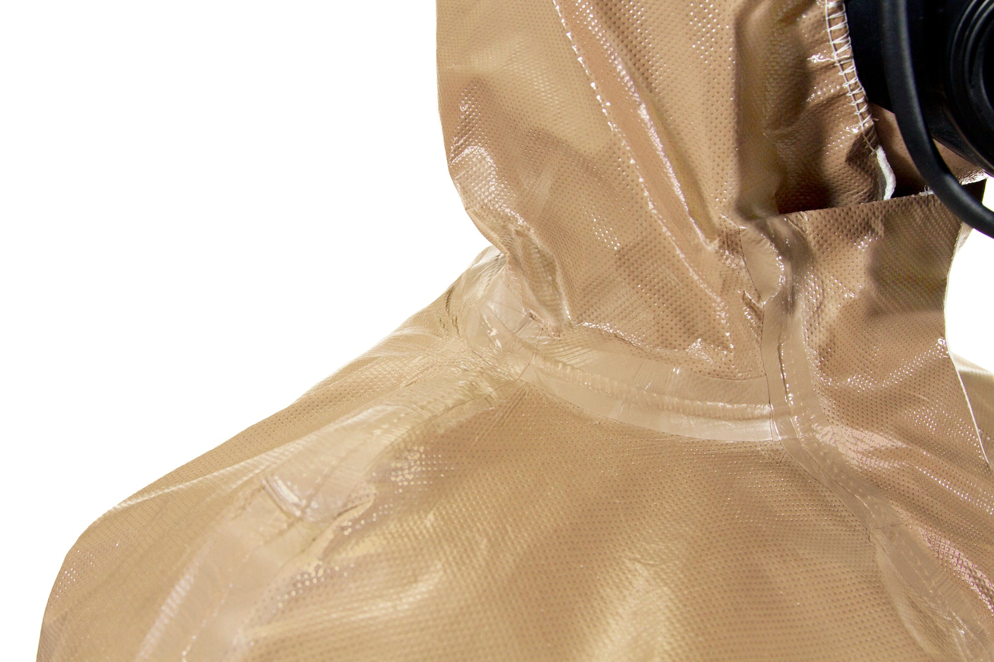 Closeup of the seams on a HAZ-SUIT HAZMAT Suit