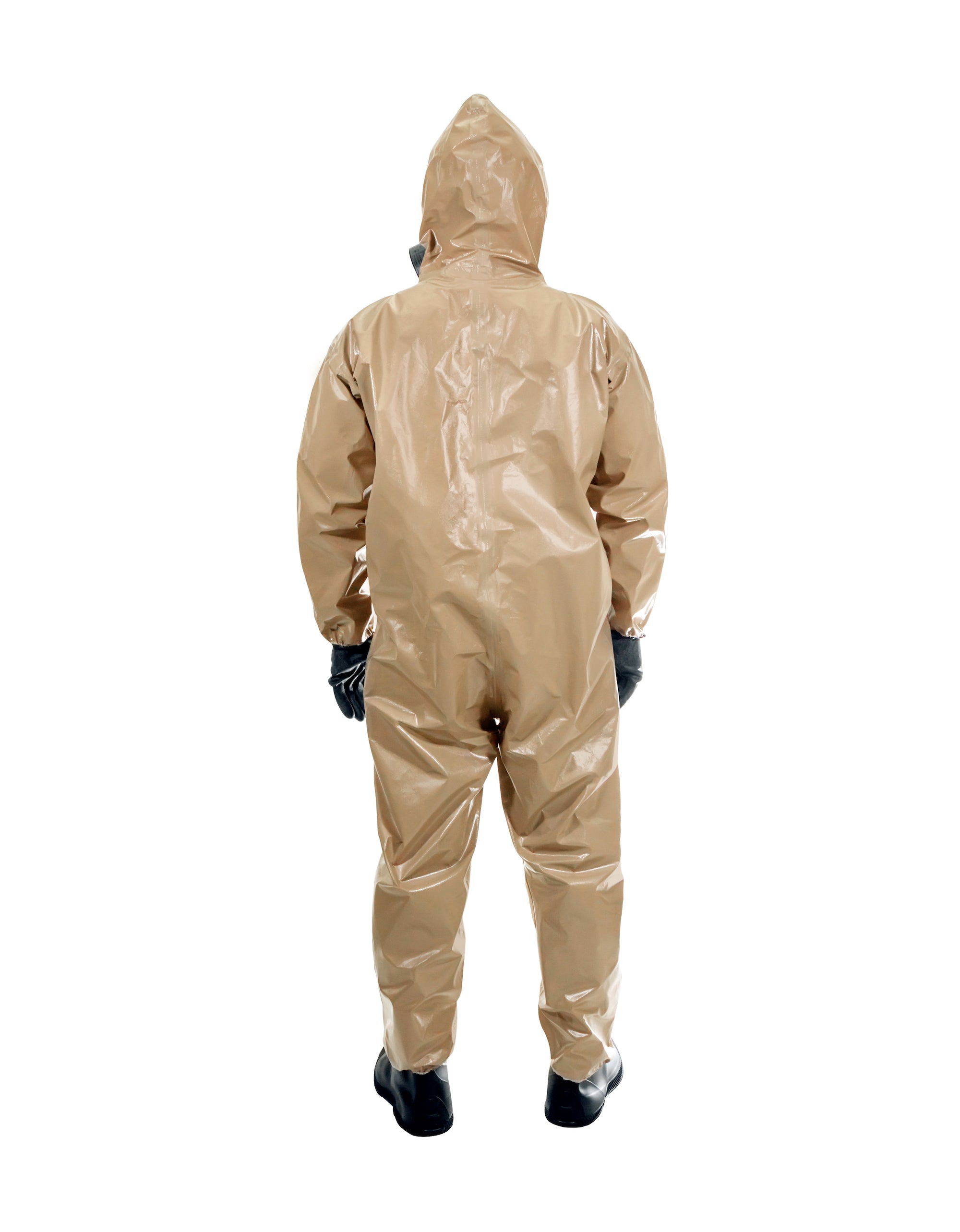 Rear view of a man wearing the HAZ-SUIT HAZMAT Suit
