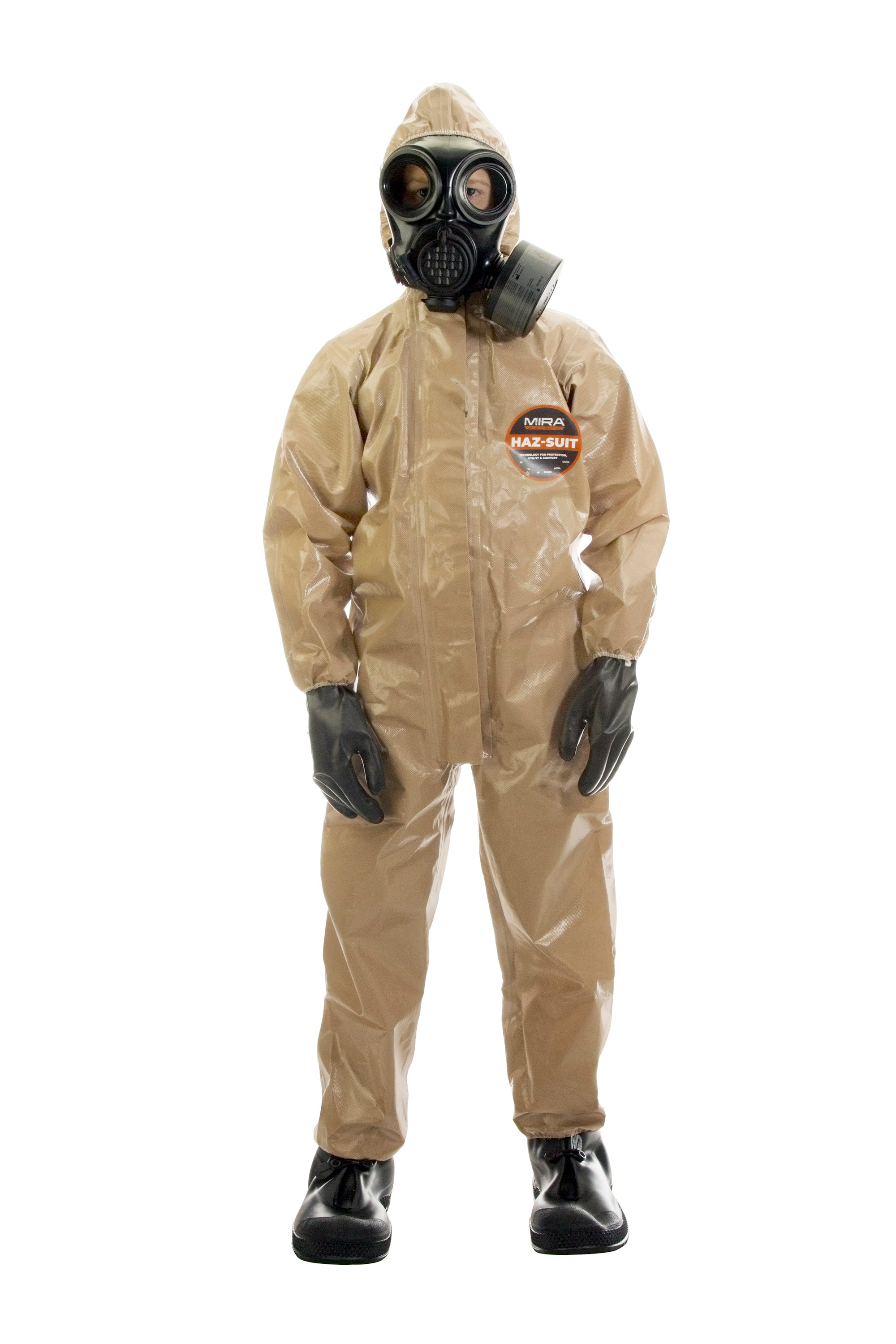 Front view of a child wearing the HAZ-SUIT HAZMAT Suit