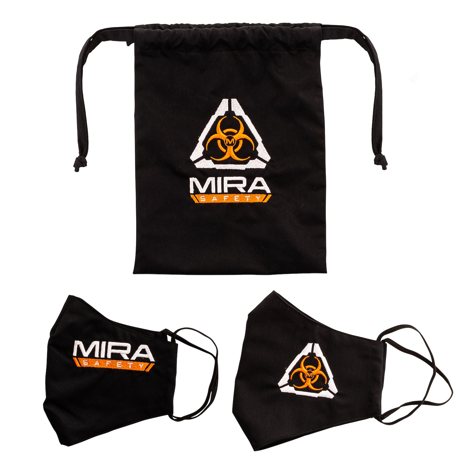 MIRA Safety Protective Face Mask Kit laid out on white background