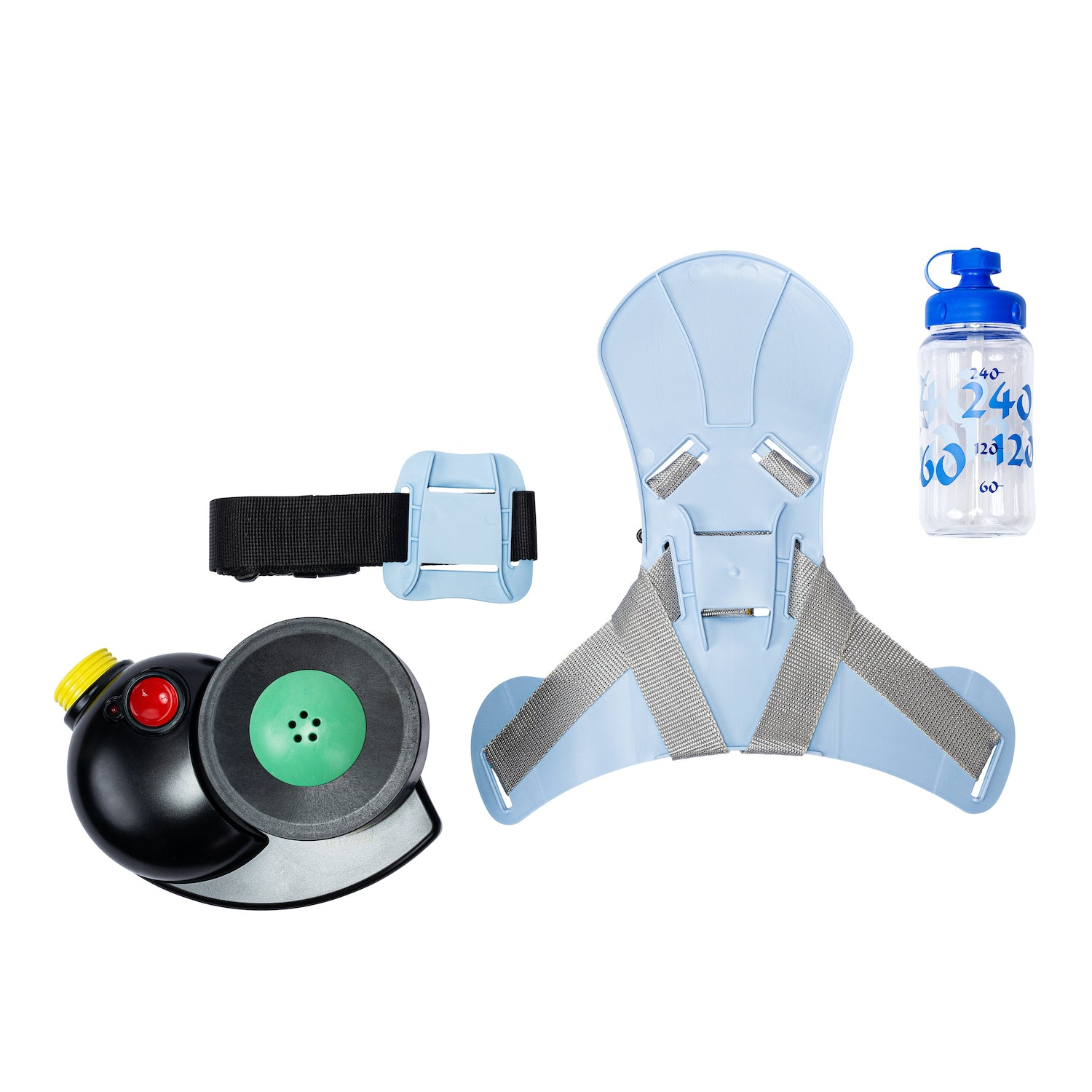 Accessories included with the CM-3M Kids Gas Mask