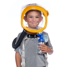 Child smiling while wearing the CM-3M Child Escape Respirator