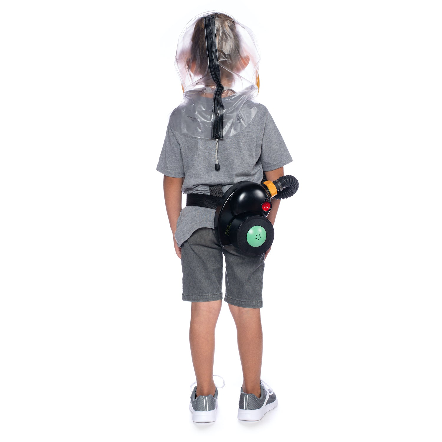 CM-3M Kid's Gas Mask with hip belt setup