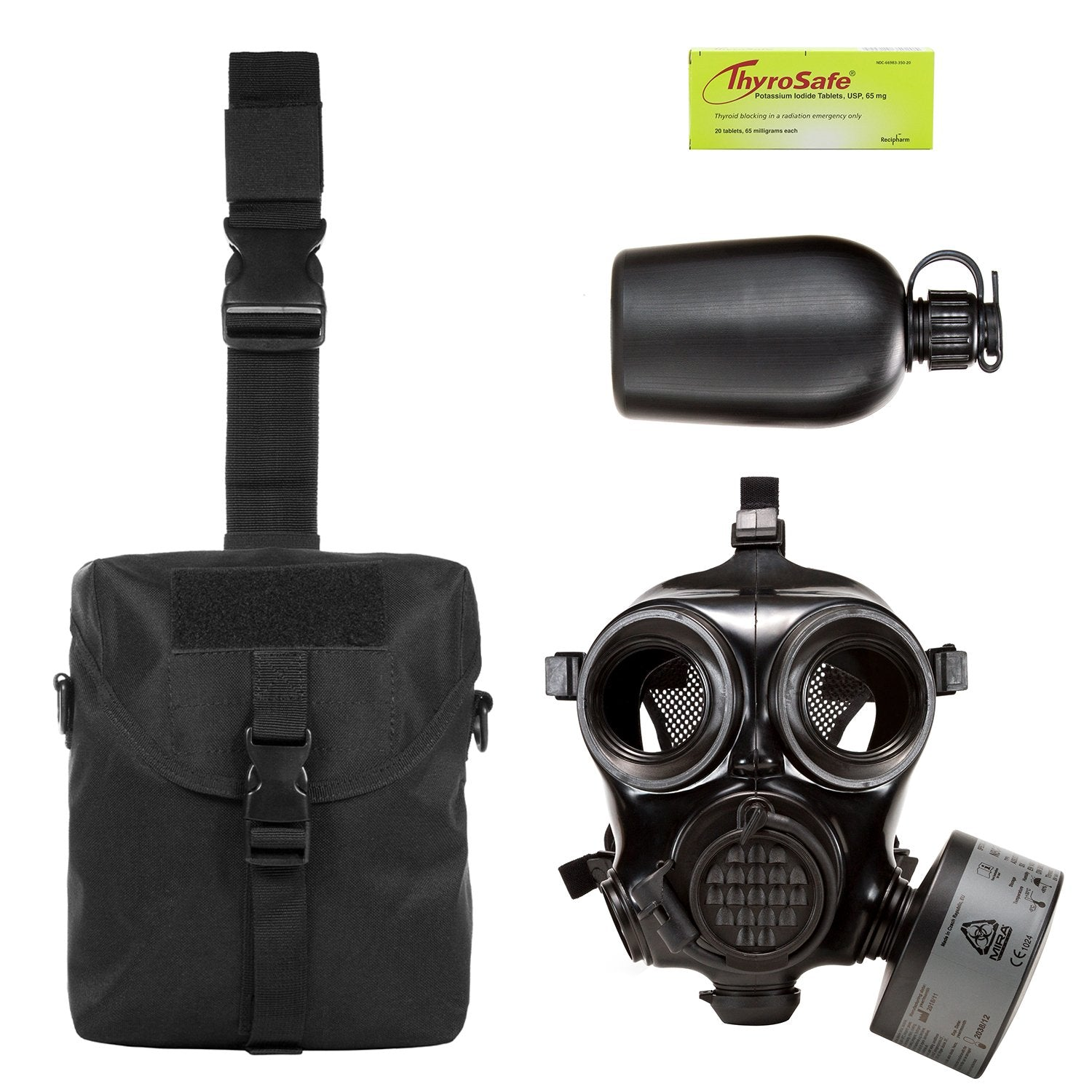 MIRA Safety Nuclear Survival Kit with the CM-7M military gas mask