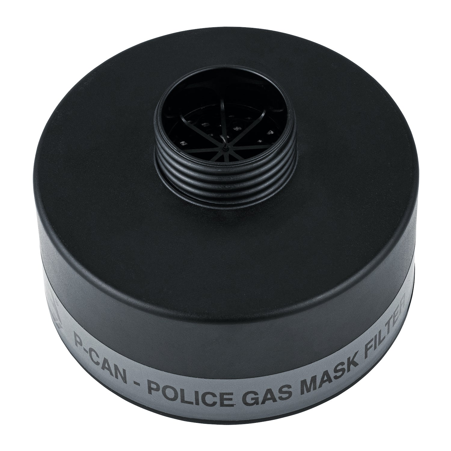 P-CAN Police Gas Mask Filter side view