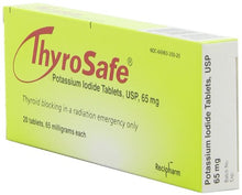 Thyrosafe potassium iodide packaging side view