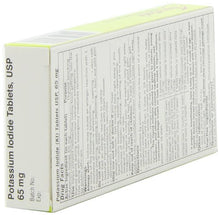Thyrosafe potassium iodide packaging back view