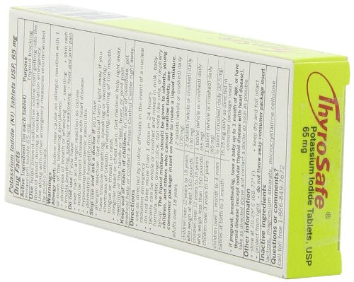 Thyrosafe potassium iodide packaging instructions side view