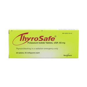 Thyrosafe potassium iodide packaging front view