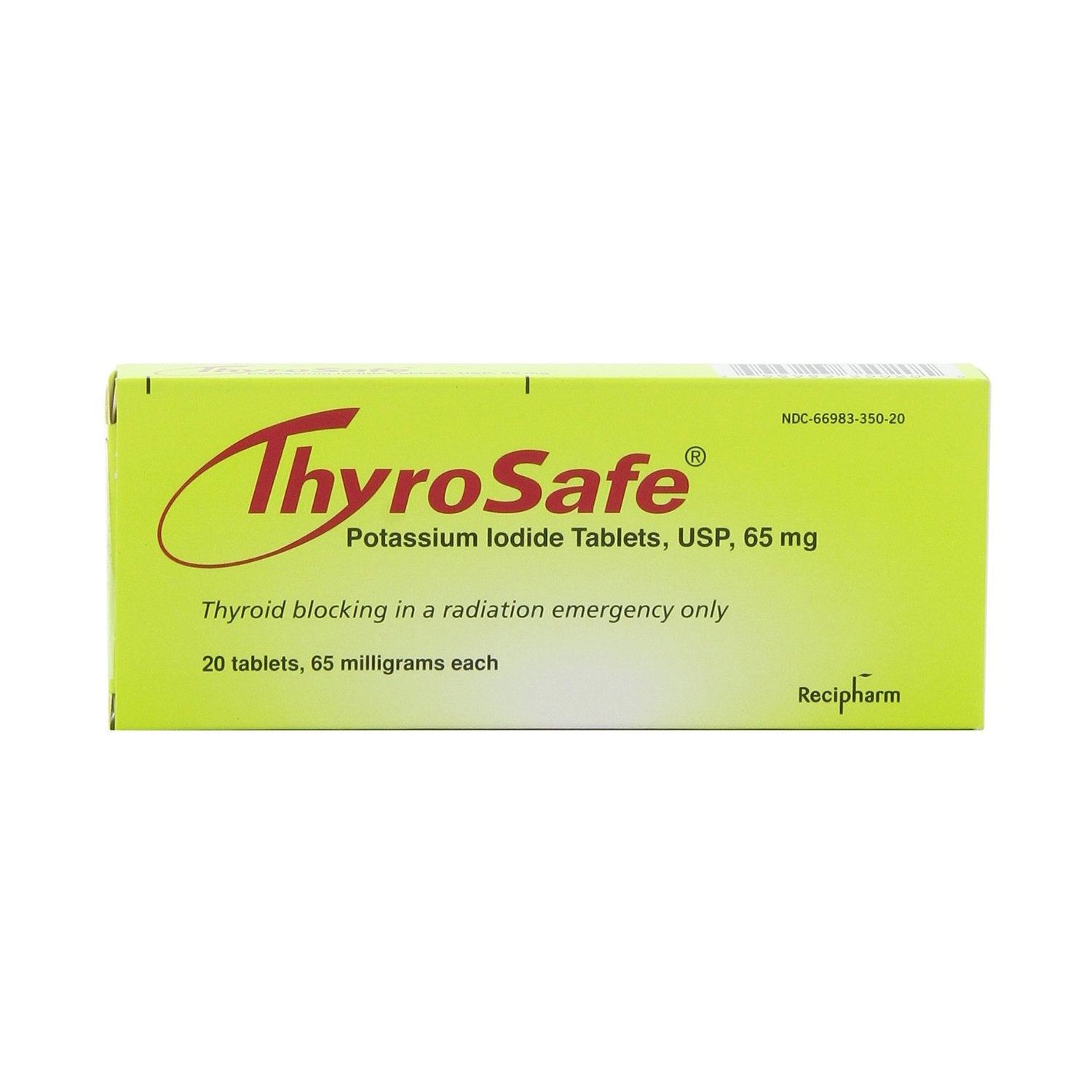 Thyrosafe potassium iodide tablets included in the MIRA Safety Nuclear Survival Kit