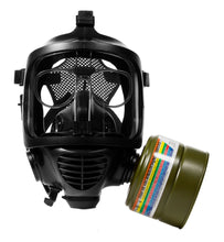 VK-450 40mm CO smoke filter on the CM-6M tactical gas mask