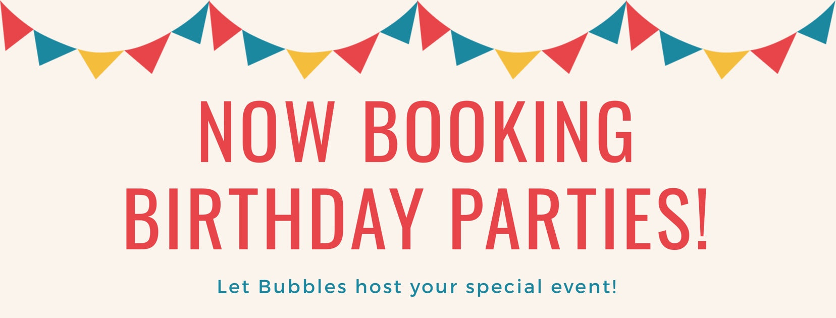 Birthday Parties at Bubbles Gift Shoppe