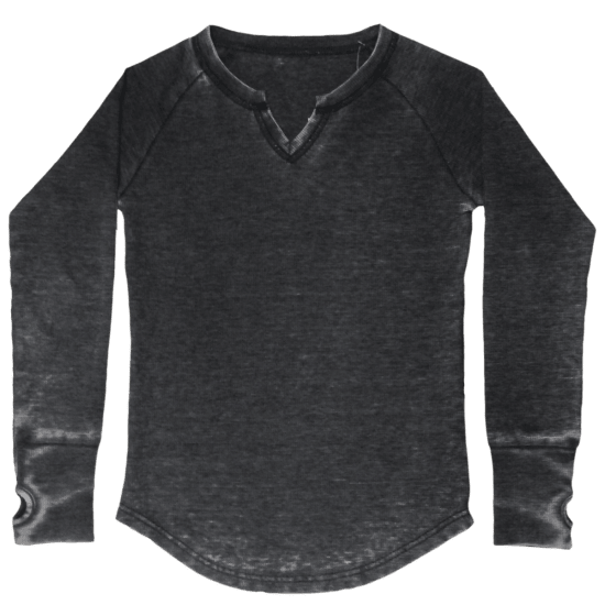 Burnout Black Thermal Shirt