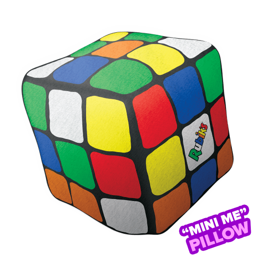 Mini Rubik's 3D Microbead Pillow- Bubblegum Scented Pillow