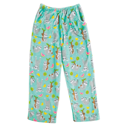 Sloth Plush Pants - Kids