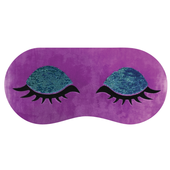 Heart Eyes Reversible Sequin Eye Mask