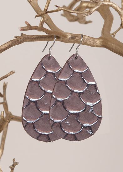 Leather Tear Drop Earrings - 6 Styles