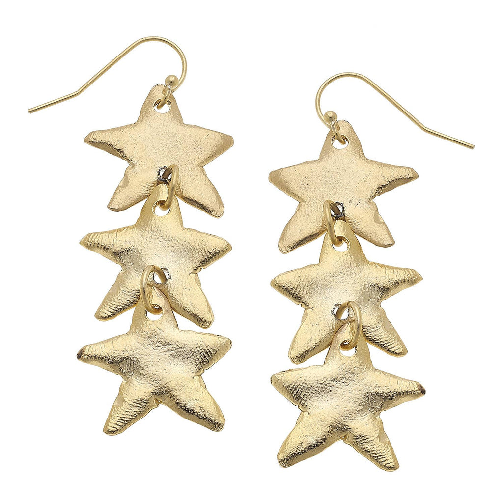 Susan Shaw Star Dangle Earrings