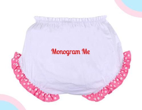 Hot Pink Diaper Cover - Kids- with Monogram - Bubbles Gift Shoppe