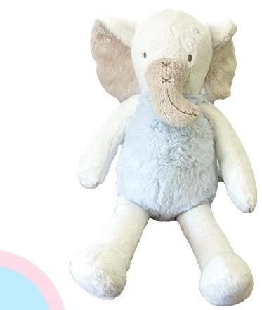 Elephant Plush Lovey in Blue- Kids- with Monogram - Bubbles Gift Shoppe