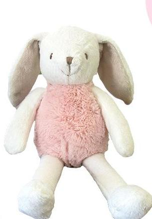 Bunny Plush Lovey in Pink- Kids- with Monogram - Bubbles Gift Shoppe