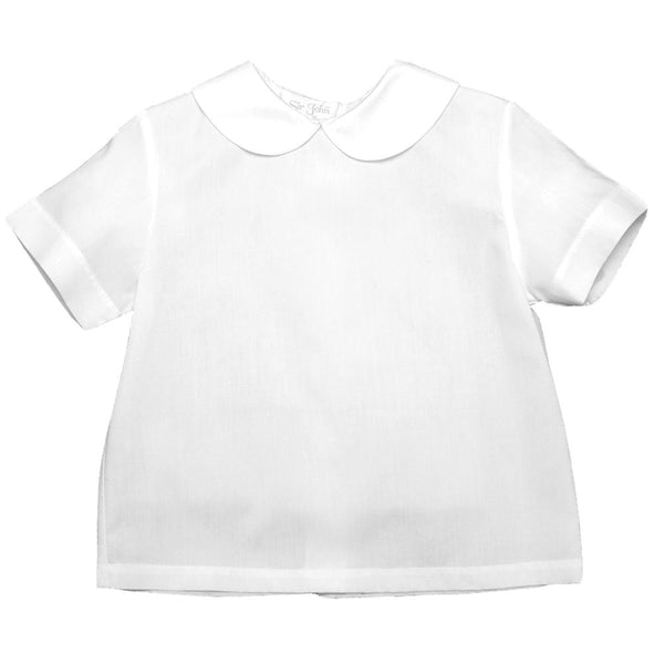 Boy White Short Sleeve Shirt