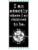 "BLACK MANTRA SCARF – ""I AM EXACTLY WHERE I AM SUPPOSED TO BE."""