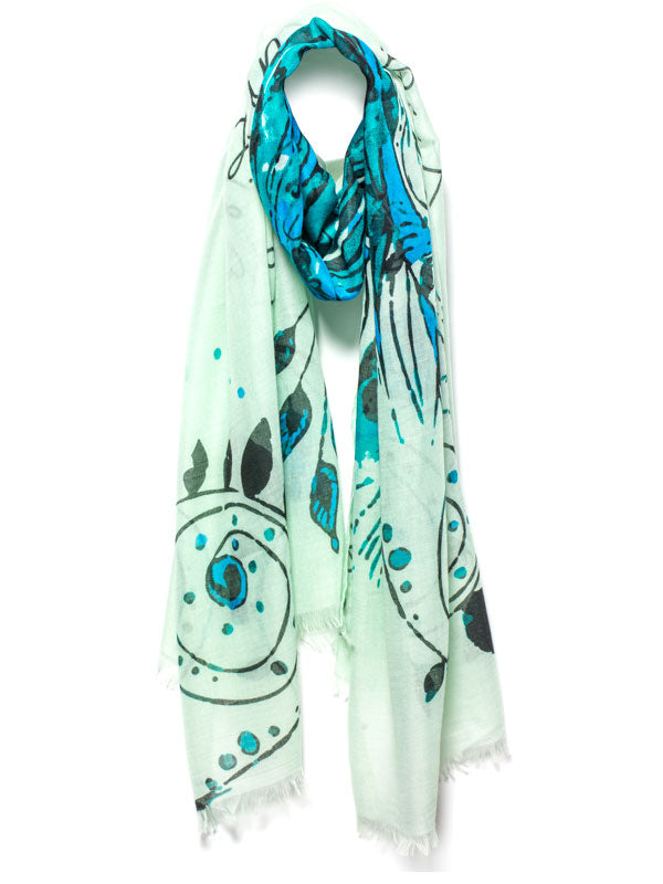 "GREEN MANTRA SCARF – ""LIFE IS TOUGH MY DARLING, BUT SO ARE YOU"""