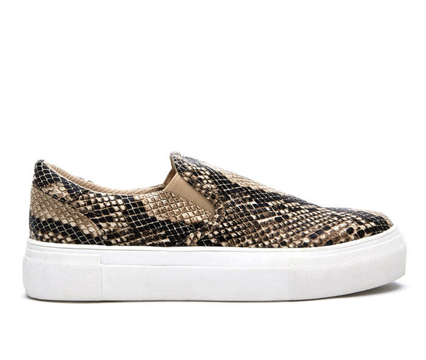 Gradient Snake Print Ladies Sneaker