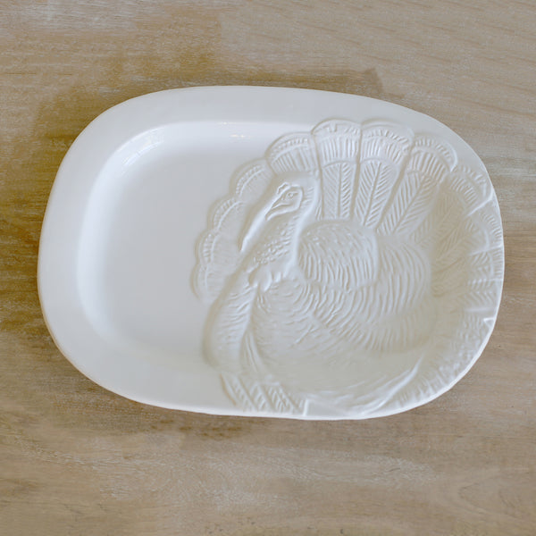 Turkey Embossed Serving Platter