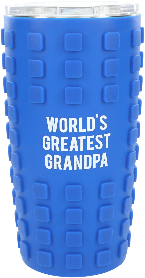 Travel Tumbler with 3D Silicone Wrap - 2 Sayings