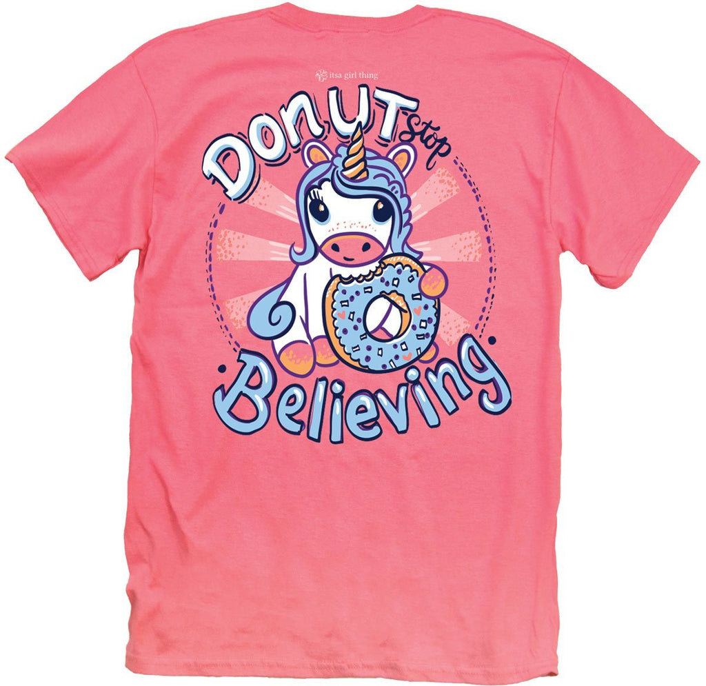 04e9c57800f0 Donut Stop Believing Youth T-shirt- 4 sizes – Bubbles Gift Shoppe ...