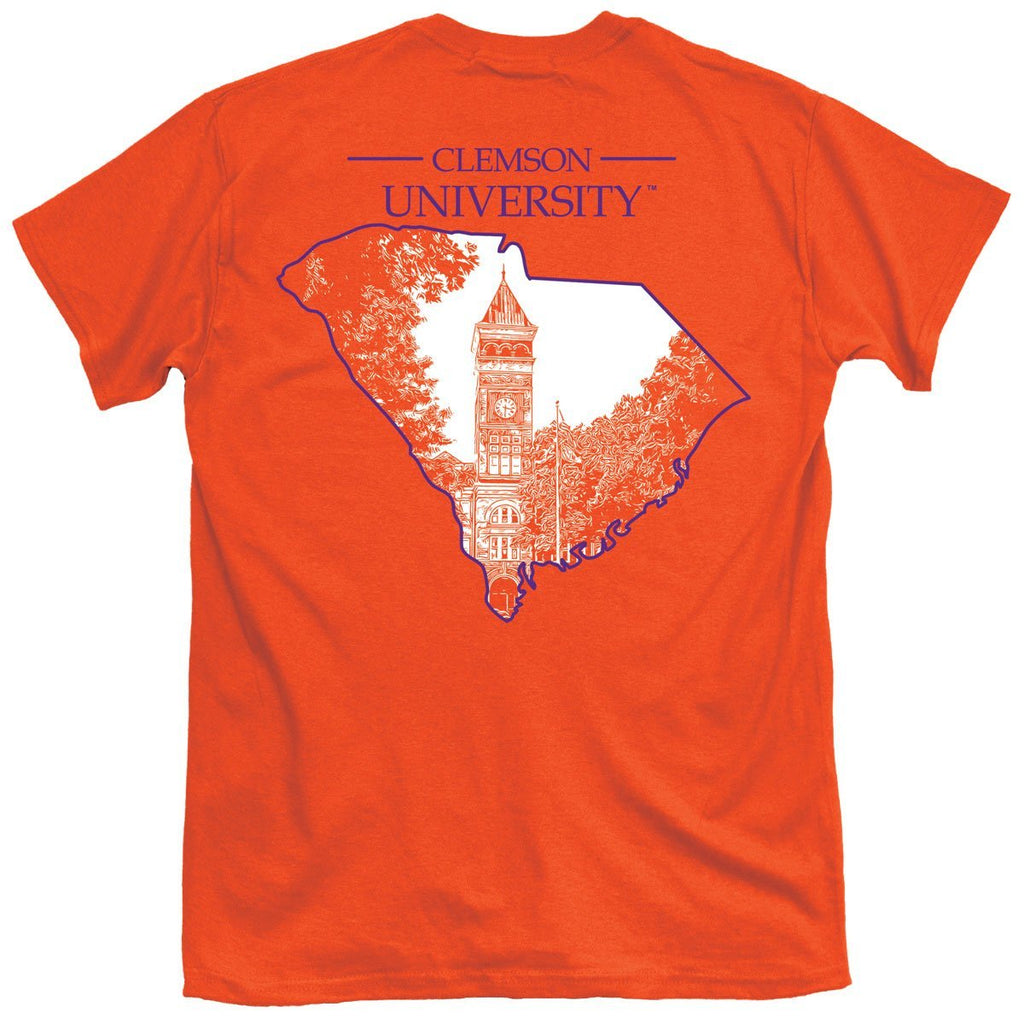 Clemson One Color State T-Shirt
