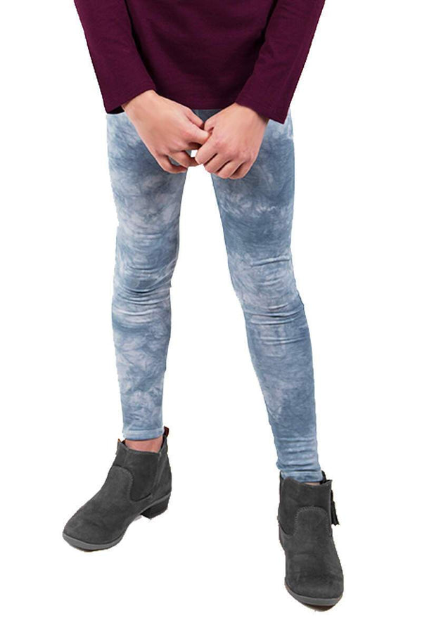 Dark Grey Tie Dye Leggings