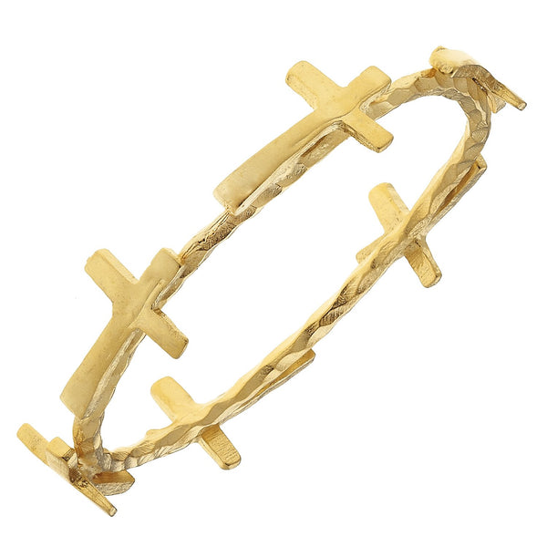 Susan Shaw Gold Cross Bangle