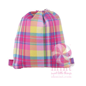 Plaid Seersucker Sling Backpack
