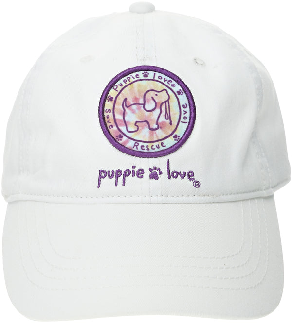 White Tie Dye Logo Puppie Love Hat