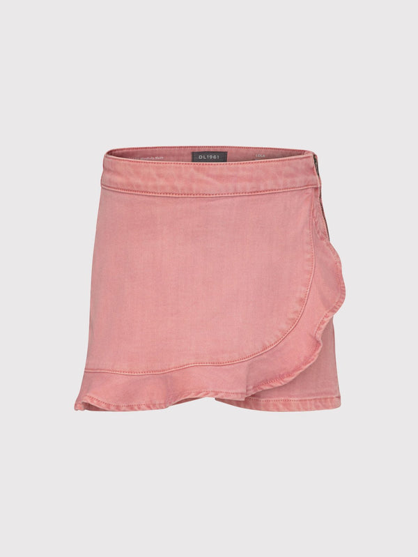 DL1961 Lola Pink Denim Skort
