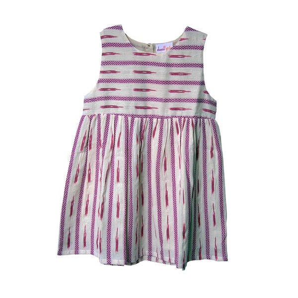 Dobby Hand Woven Dress by Cheeni