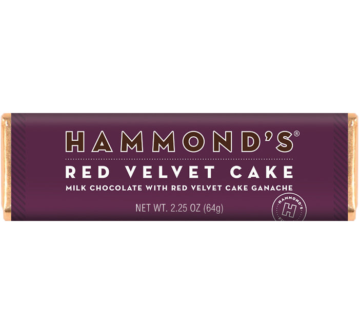 Red Velvet Cake Milk Chocolate Candy Bar 2.25oz
