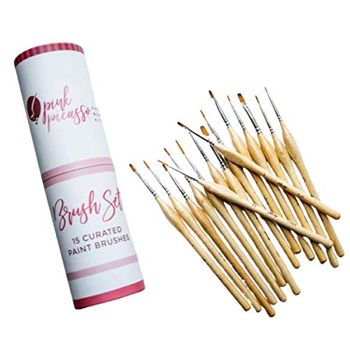 Pink Picasso Kits Curated Brush Set - 15 brushes included