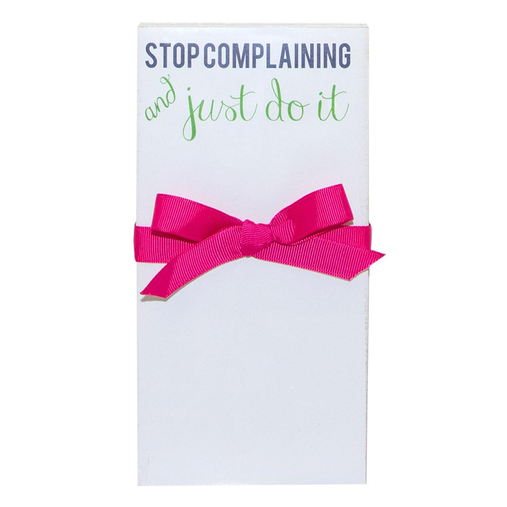 STOP Complaining 4x8 Notecards - Home Goods - Bubbles Gift Shoppe