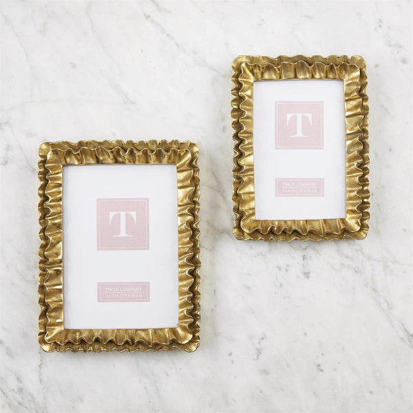 Gold Ruffles Photo Frames- 2 sizes available