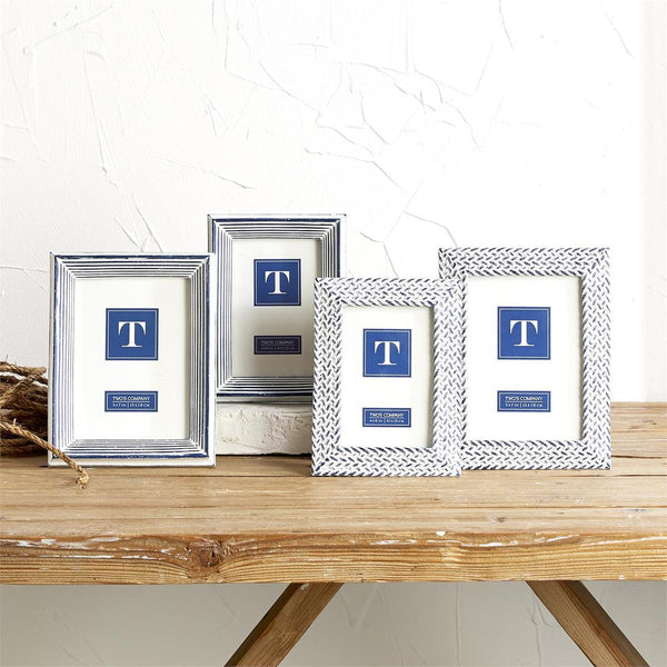 Blue and Whitewash Photo Frames- 2 Styles