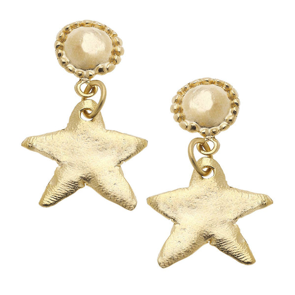Susan Shaw Star Earrings
